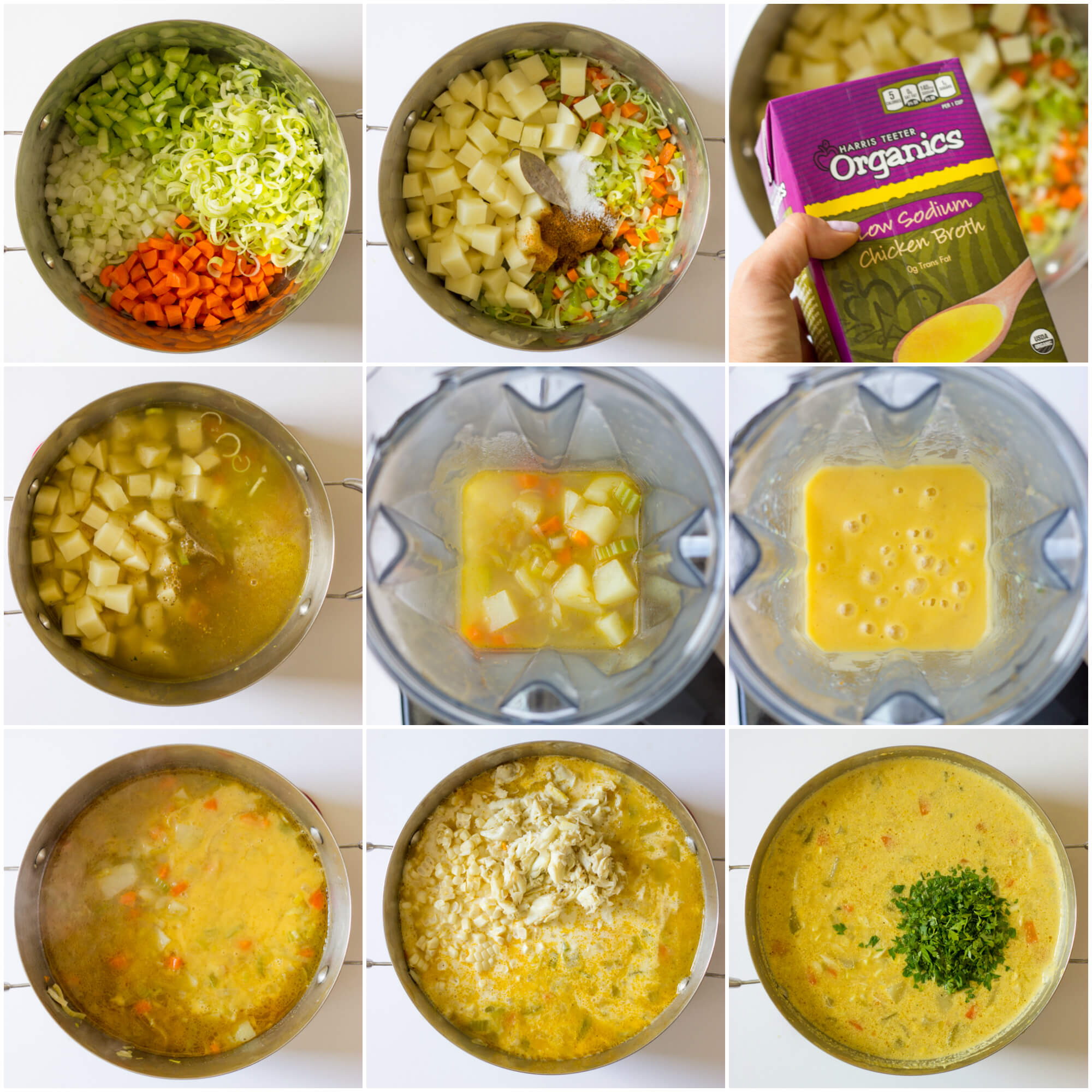 instructions on how to make crab corn chowder