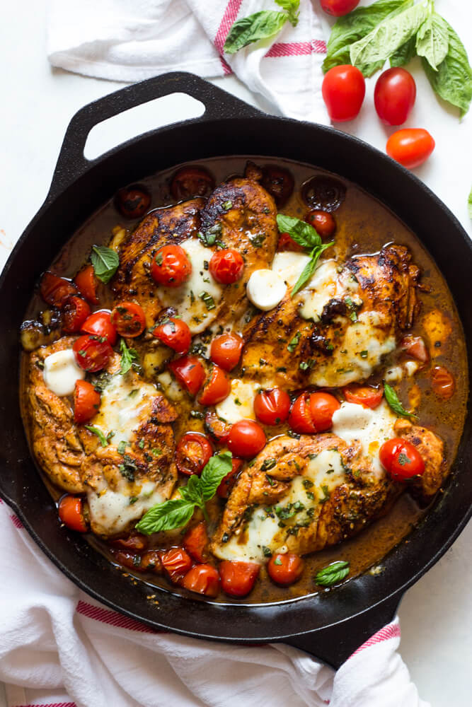 One Pan Balsamic Chicken Little Broken
