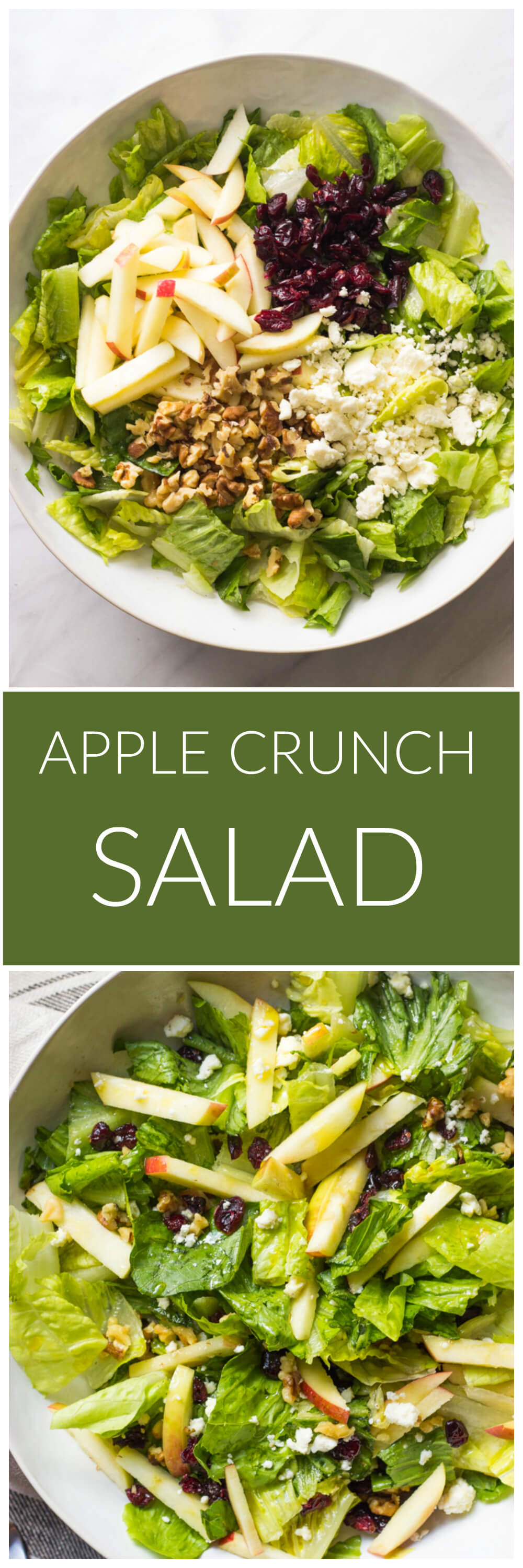 Apple Crunch Salad - simple yet flavorful must try fall salad! Goes with everything | littlebroken.com @littlebroken