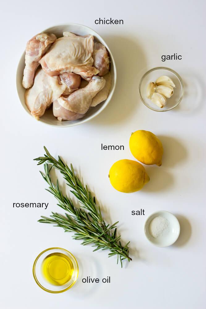 Roasted Lemon Rosemary Chicken Little Broken