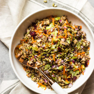 Quinoa Chicken Salad with Balsamic Dressing