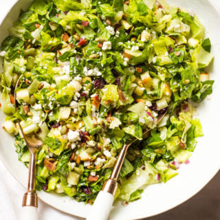 Chopped Autumn Salad with Honey Apple Cider Dressing