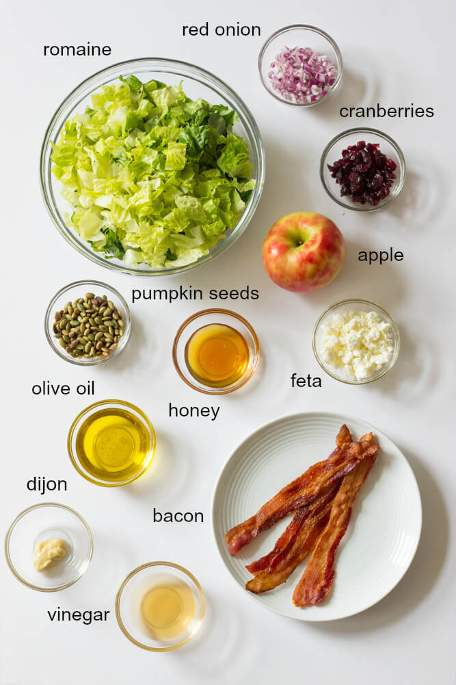 Chopped Autumn Salad with Honey Apple Cider Dressing - best fall salad ever! | littlebroken.com @littlebroken