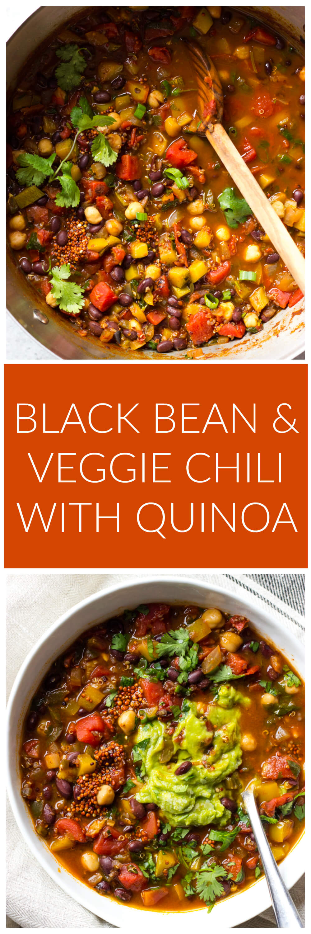 Black Bean and Veggie Chili with Quinoa - protein packed chili with quinoa, beans, and perfect blend of veggies. PLUS the most perfect seasoning! | littlebroken.com @littlebroken