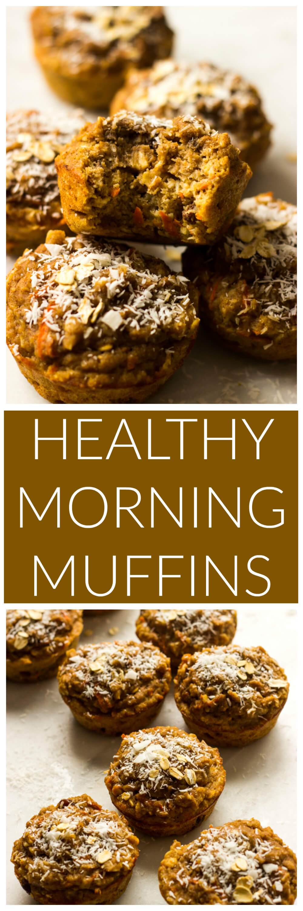 Healthy Morning Muffins - naturally sweetened, made with whole wheat flour, and insanely moist muffins | littlebroken.com @littlebroken