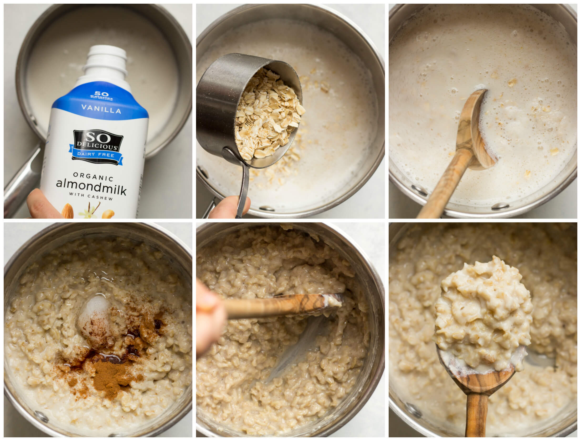 Vanilla Coconut Oatmeal Bowl - just like a smoothie bowl except it's an oatmeal bowl! Made with almond milk, coconut, and pinch of cinnamon. Add your favorite toppings and you have yourself the BEST breakfast | littlebroken.com @littlebroken