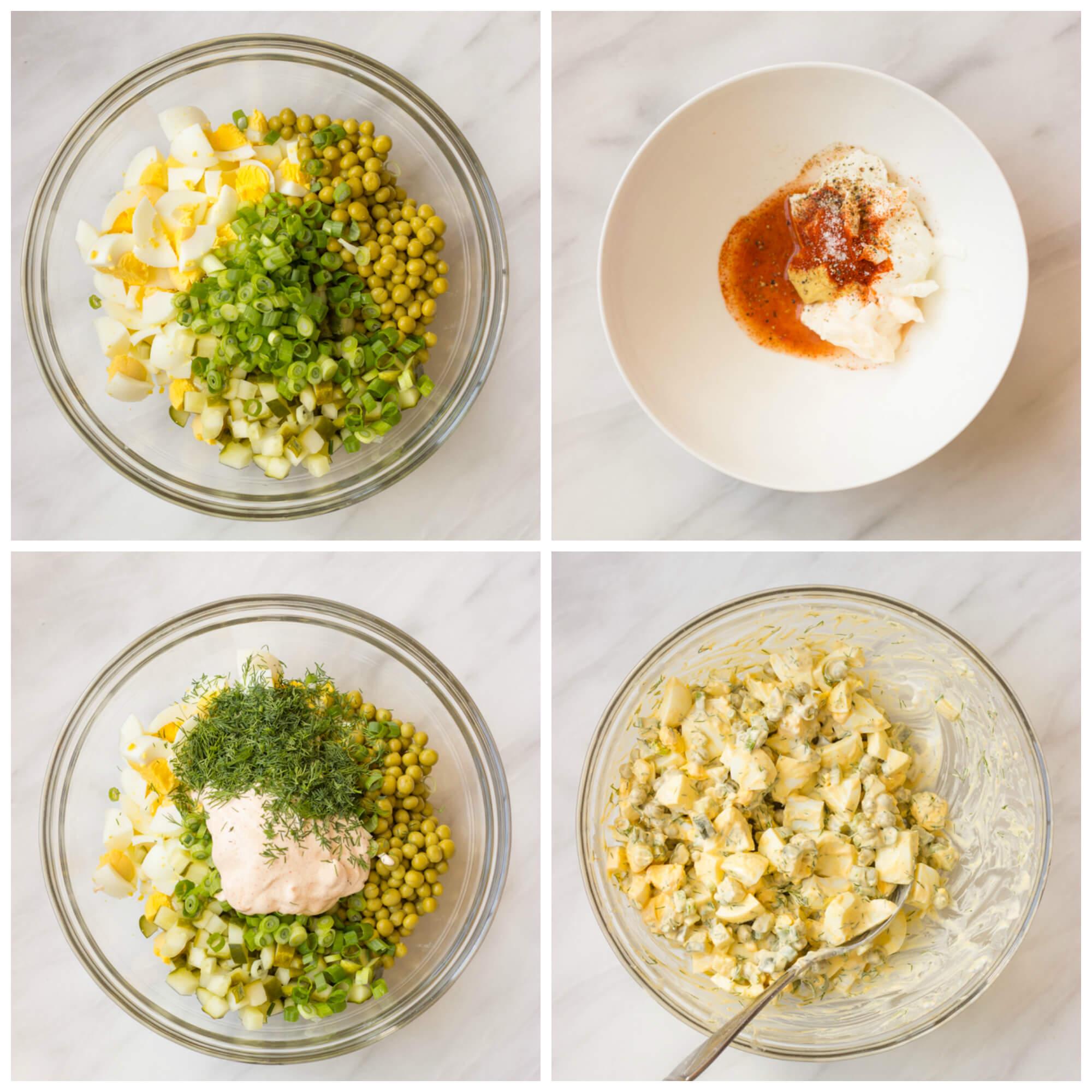 Egg Salad with Greek Yogurt Dressing | littlebroken.com
