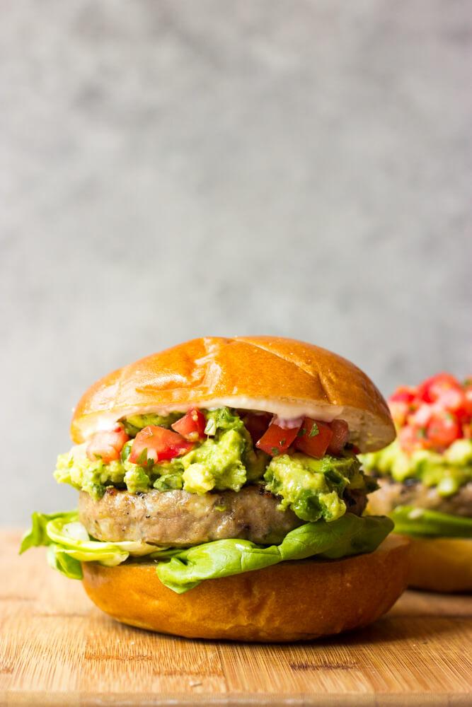 Jalapeno Turkey Burgers with Guacamole - so easy, so tender, so healthy, and the BEST burger ever | littlebroken.com @littlebroken