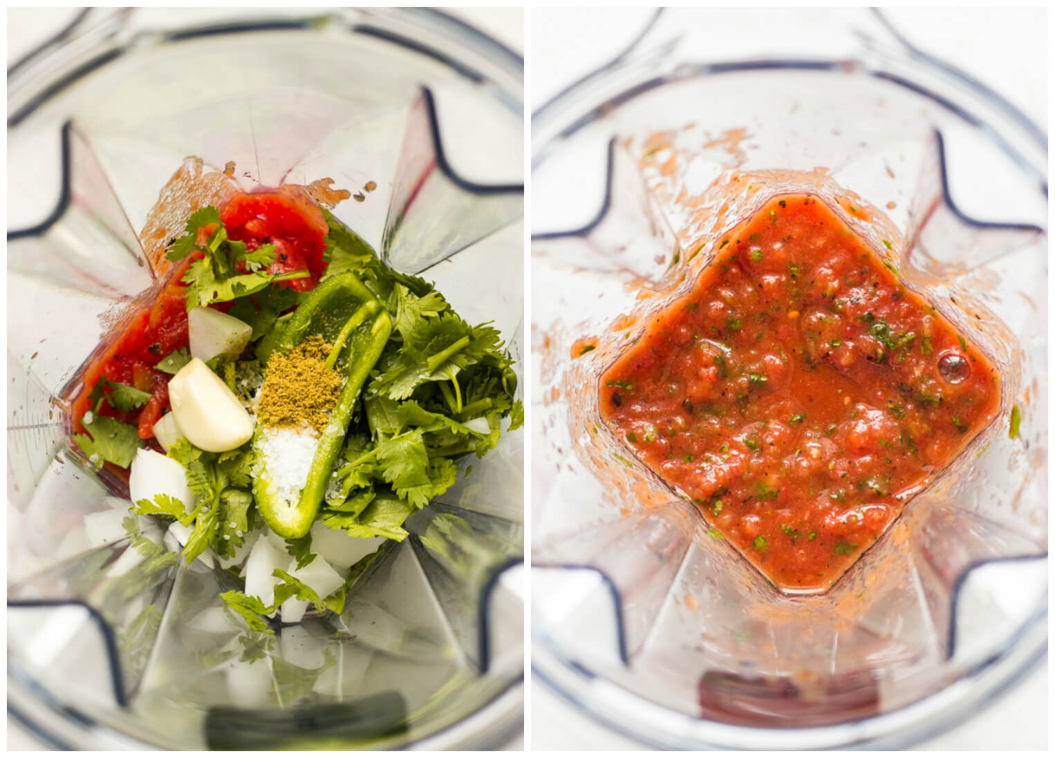 3-Minute Roasted Tomato Salsa - the BEST blender salsa there is! Made entirely in a blender | littlebroken.com @littlebroken.com
