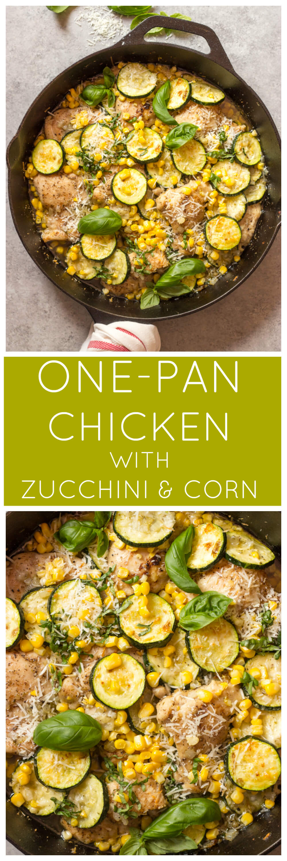 One-Pan Chicken with Zucchini and Corn - roasted chicken with zucchini and corn made with just a handful of ingredients. Perfect for summer nights | littlebroken.com @littlebroken