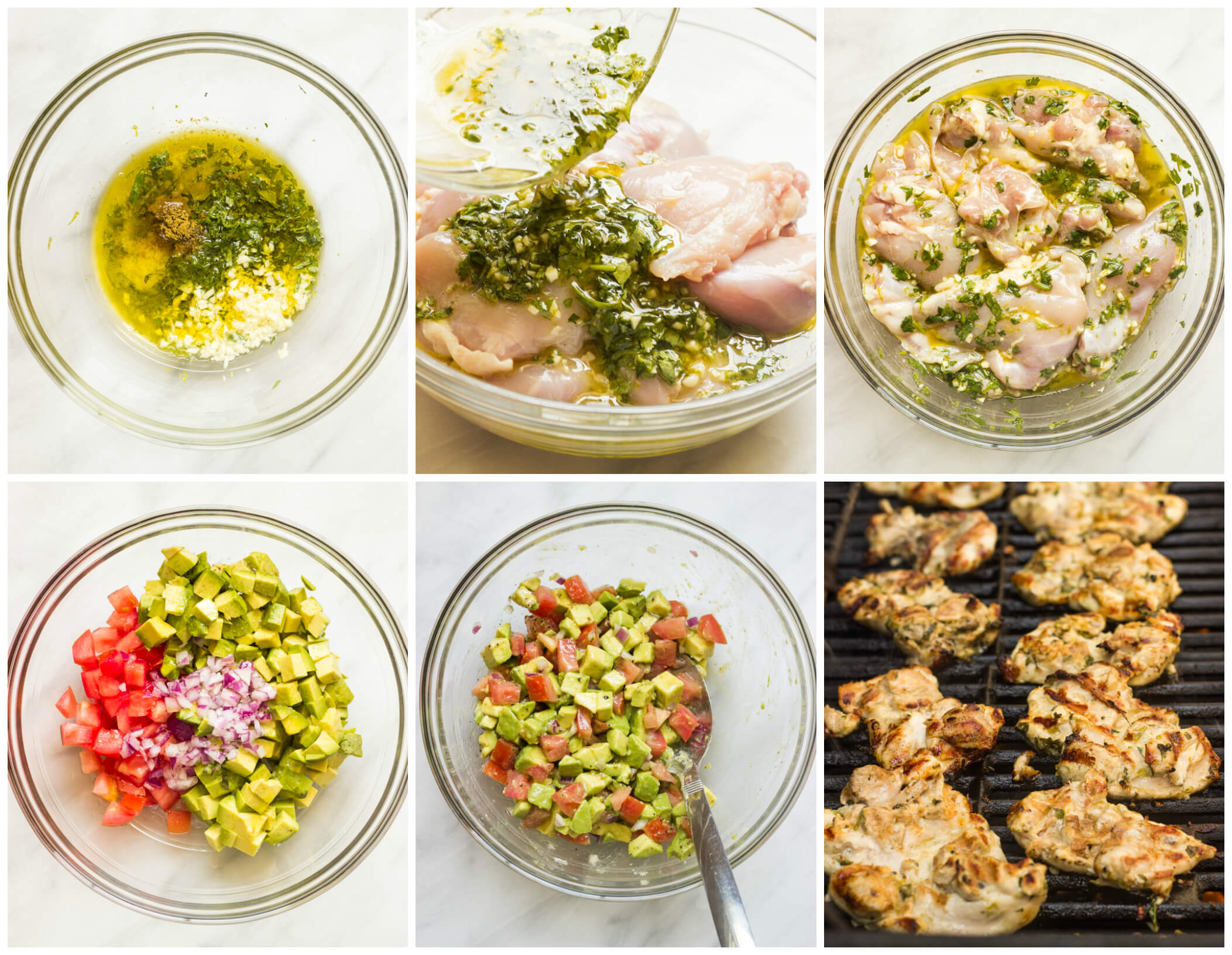 Step by step on how to make cilantro lime chicken recipe