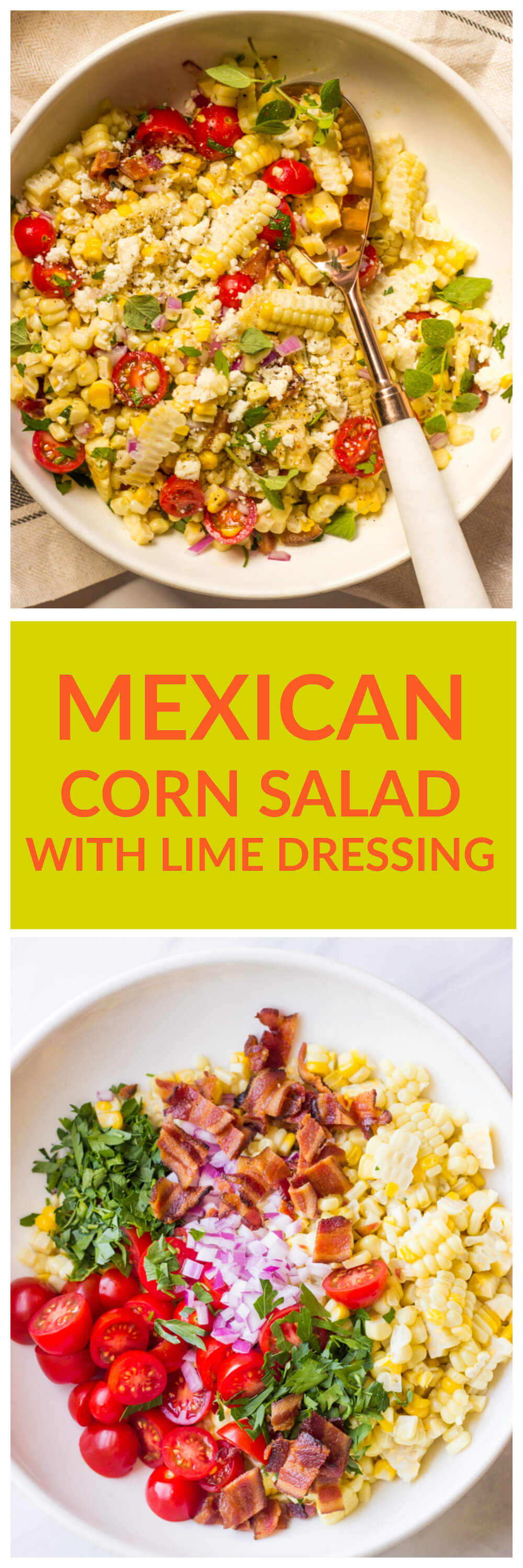 Mexican Corn Salad with Lime Dressing