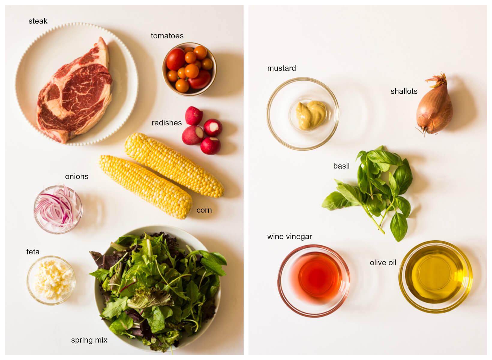 Grilled Summer Steak Salad with Corn | littlebroken.com