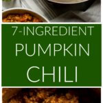 Long image of pumpkin chili