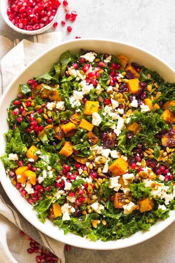 Kale Salad Recipe With Butternut Squash And Cranberries