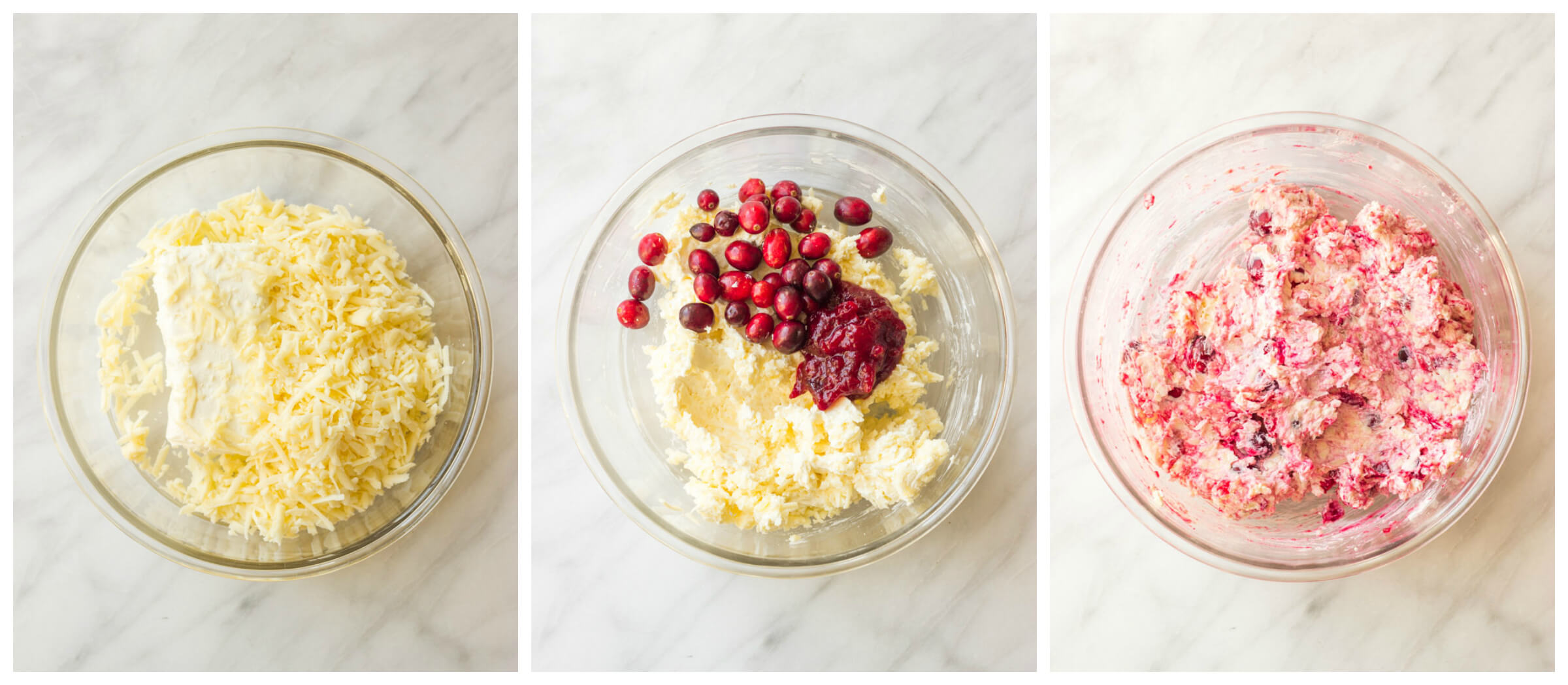 Step by step instruction on how to make cranberry dip