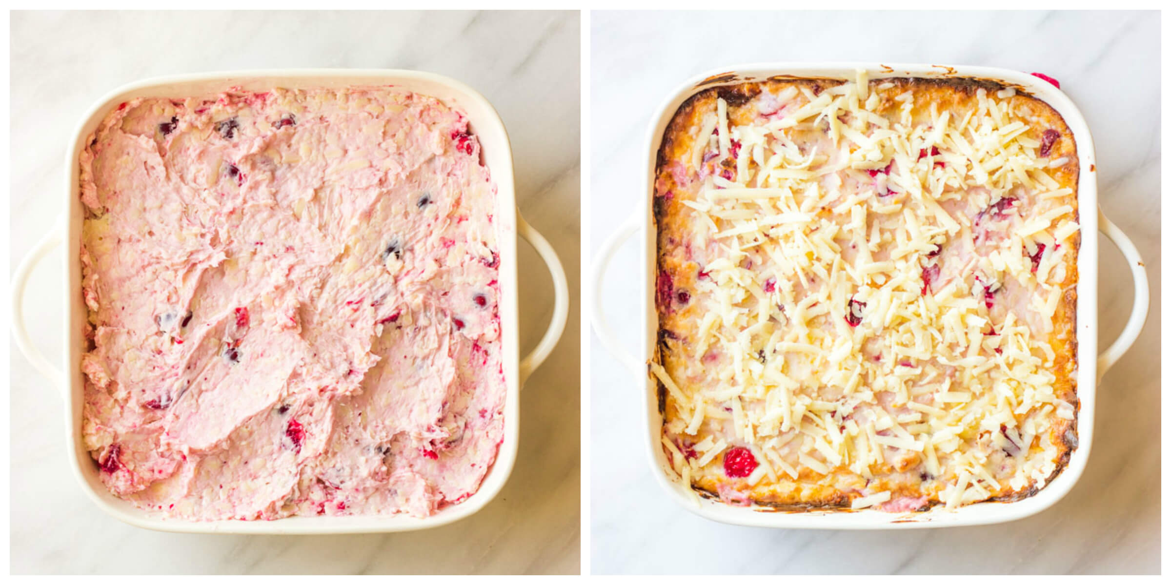 Step by step instructions on how to make cranberry dip