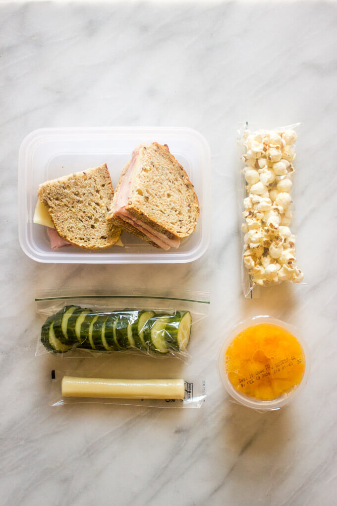 School lunch idea for make ahead lunch