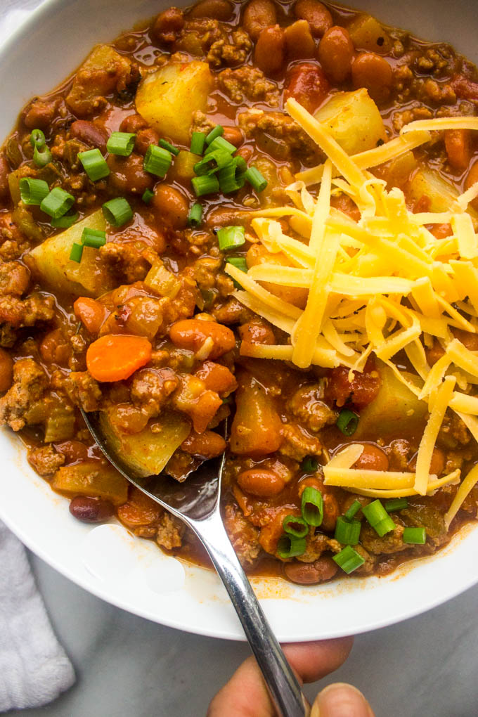 Side close up view of sweet and spicy chili