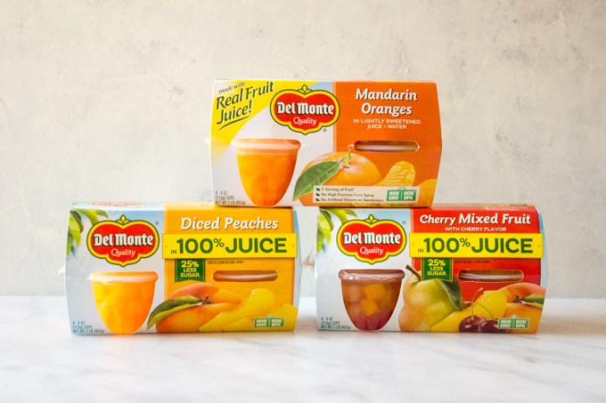 Variety of fruit cups to pack in make ahead lunches
