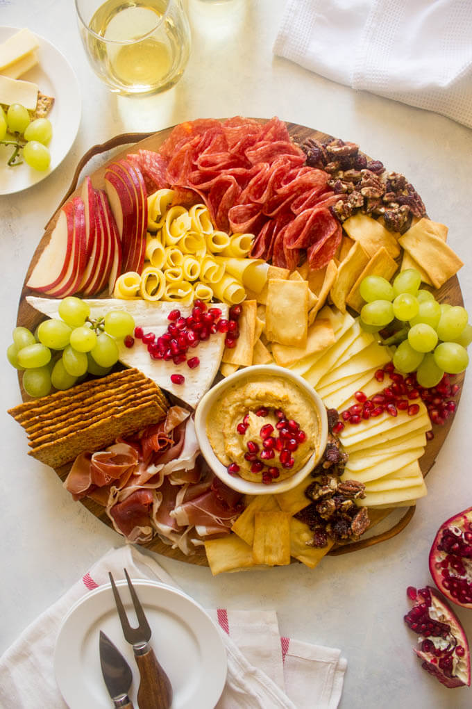 Close of up cheese platter