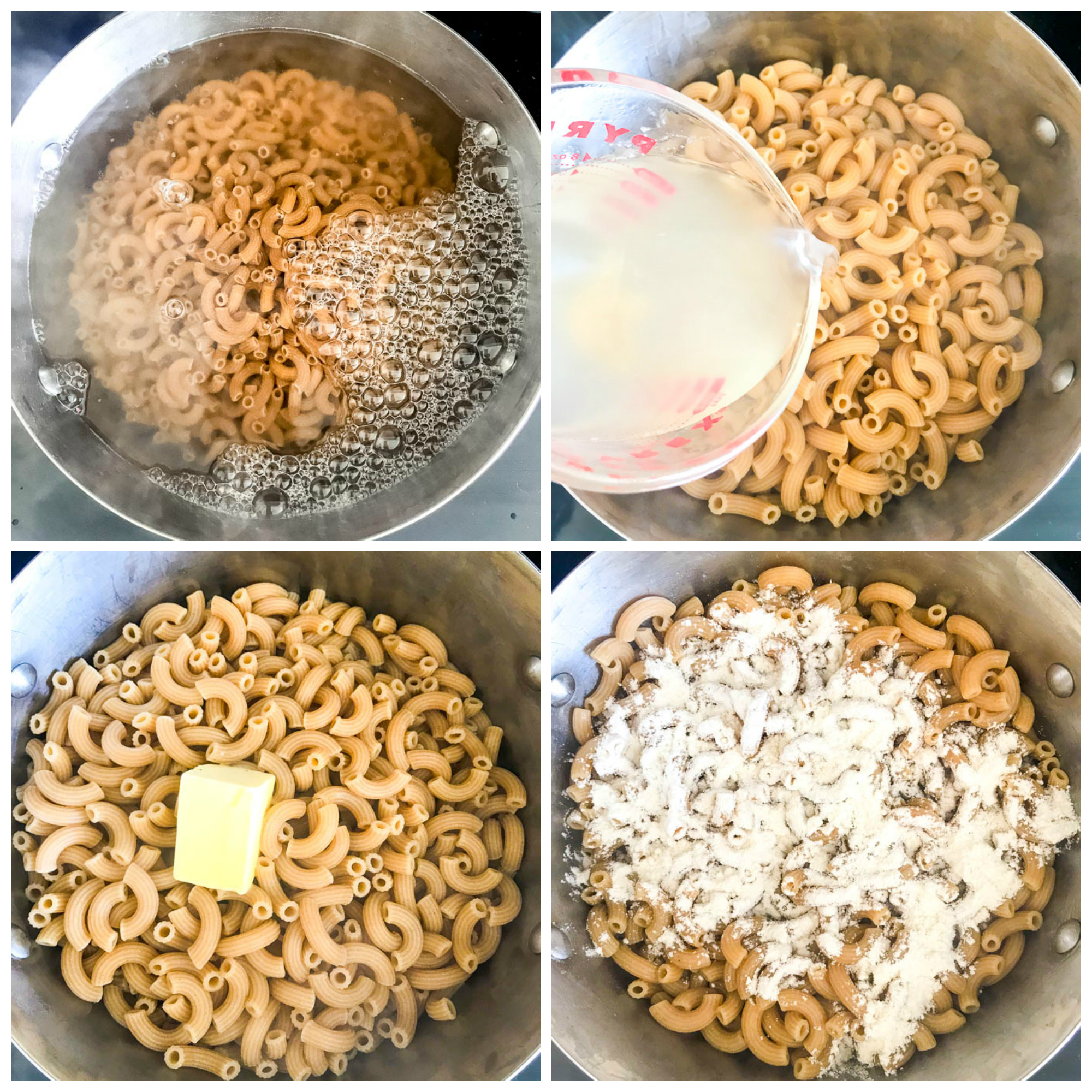 Step by step on how to make mac and cheese