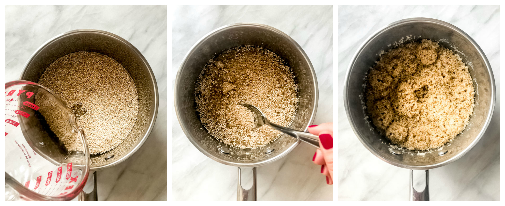 Step by step on how to cook quinoa