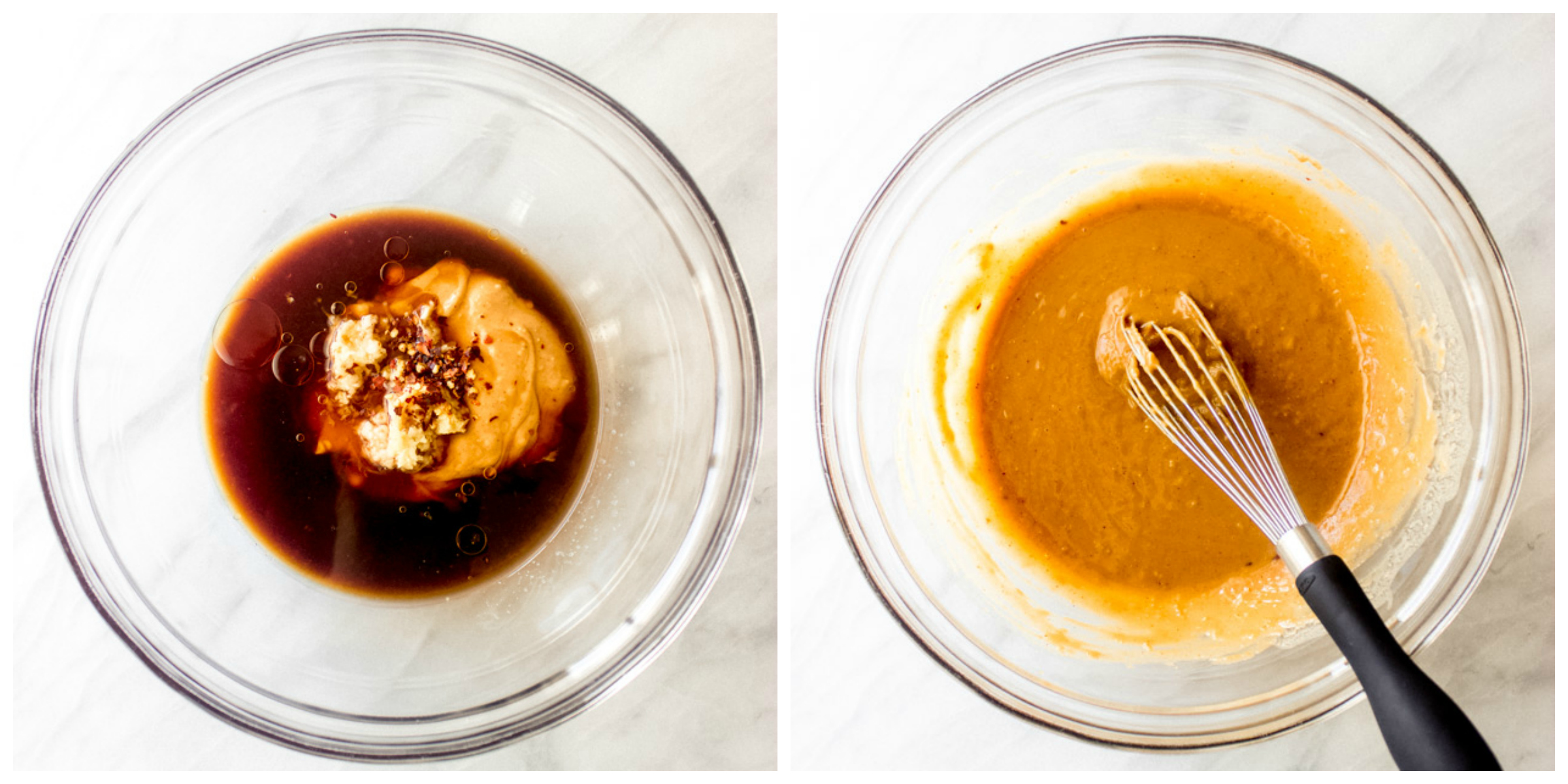 Step by step on how to make peanut sauce for spring rolls