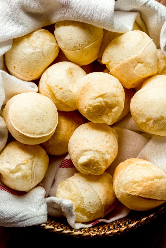 Close up Brazilian cheese bread recipe