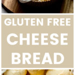 Vertical close up gluten free cheese bread