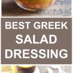 Vertical image greek salad dressing