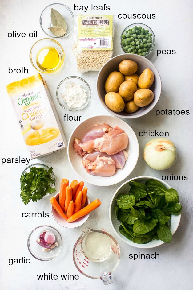 Ingredients for chicken thigh stew recipe