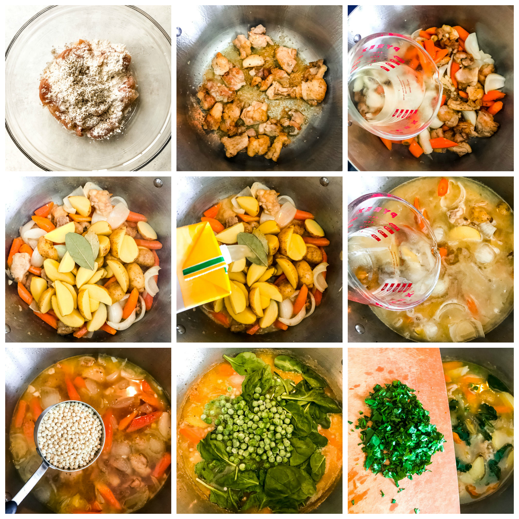 Step by step on how to make chicken vegetable stew