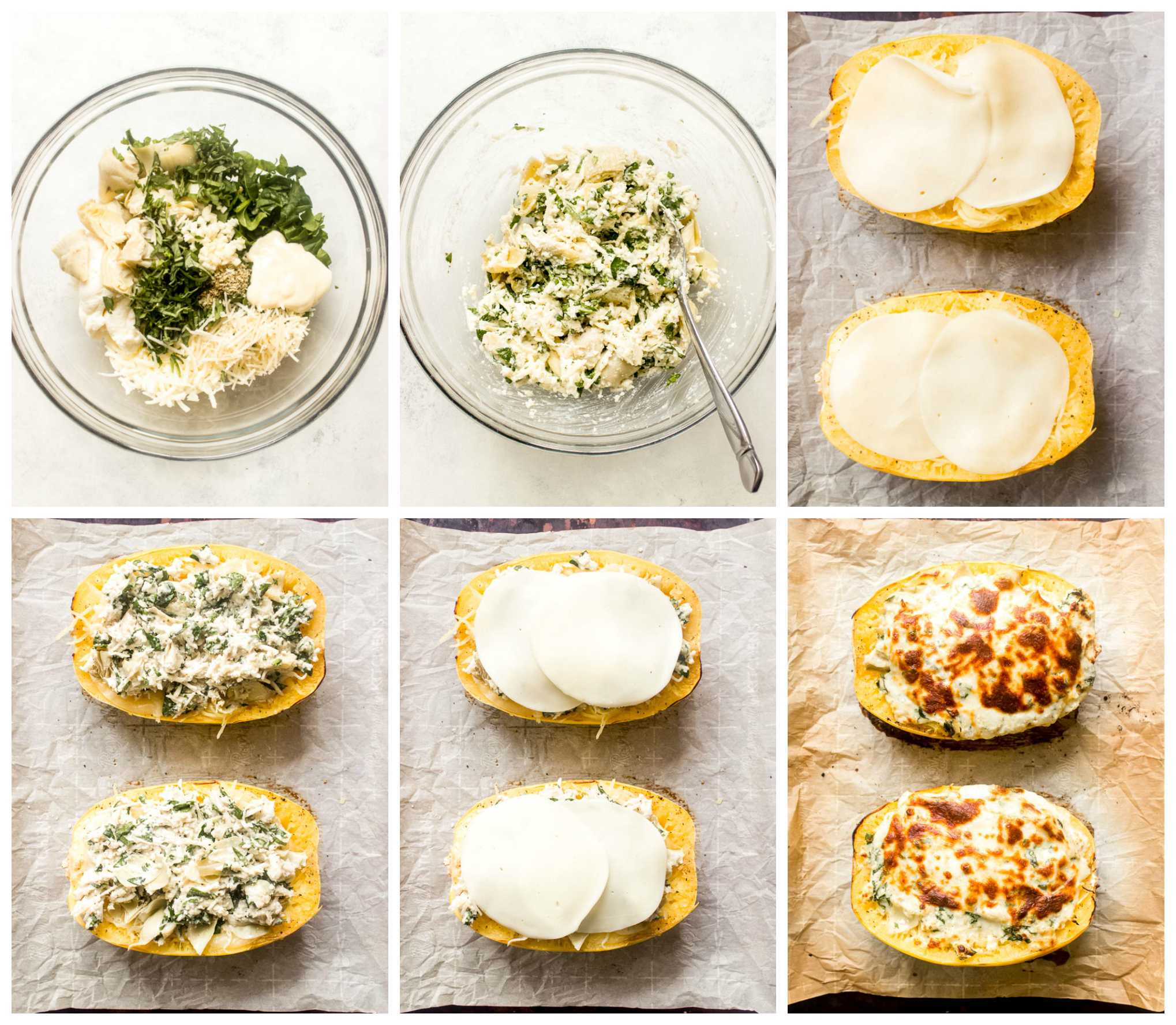 Step by step on how to bake spaghetti squash
