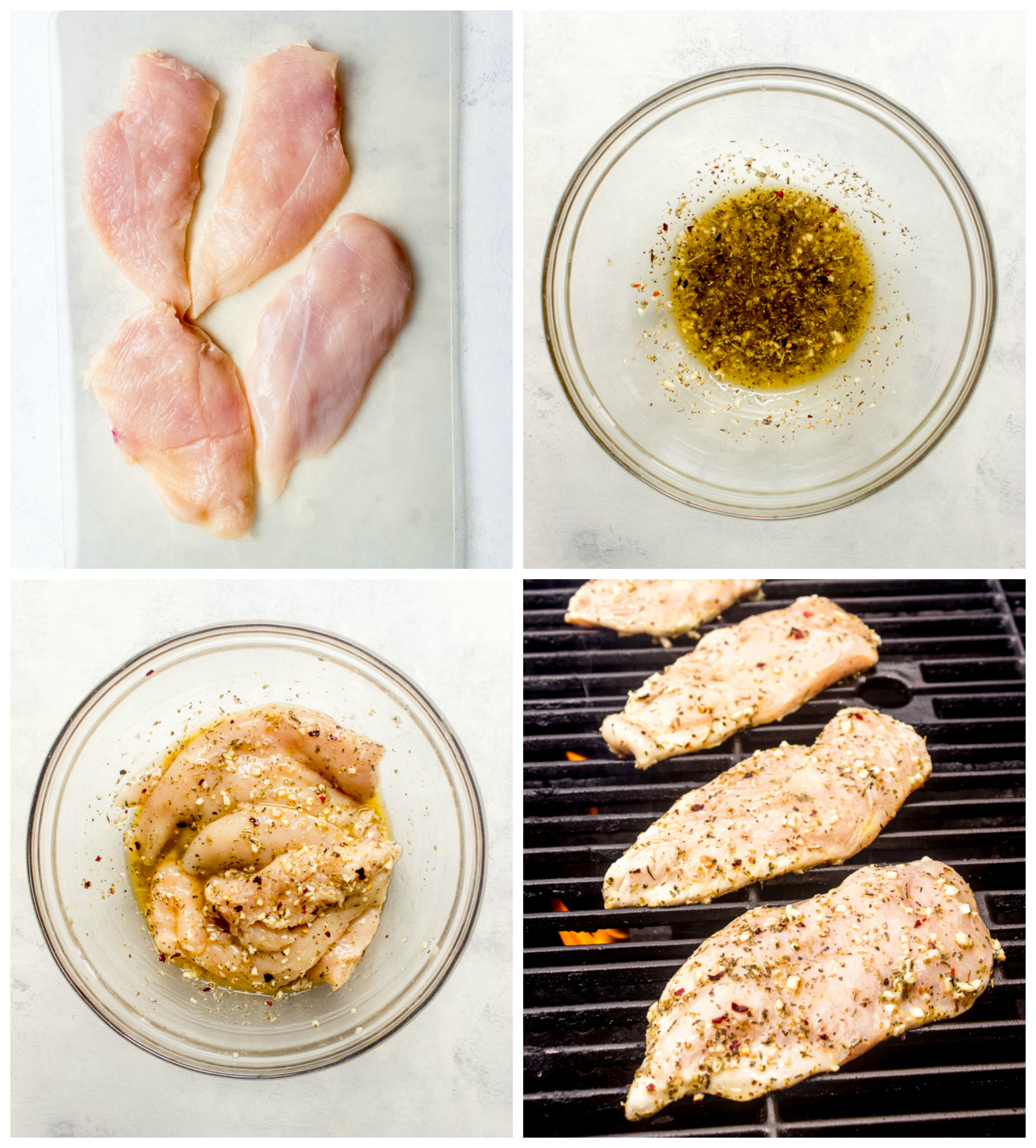 Step by step instructions on how to make grilled chicken with balsamic reduction