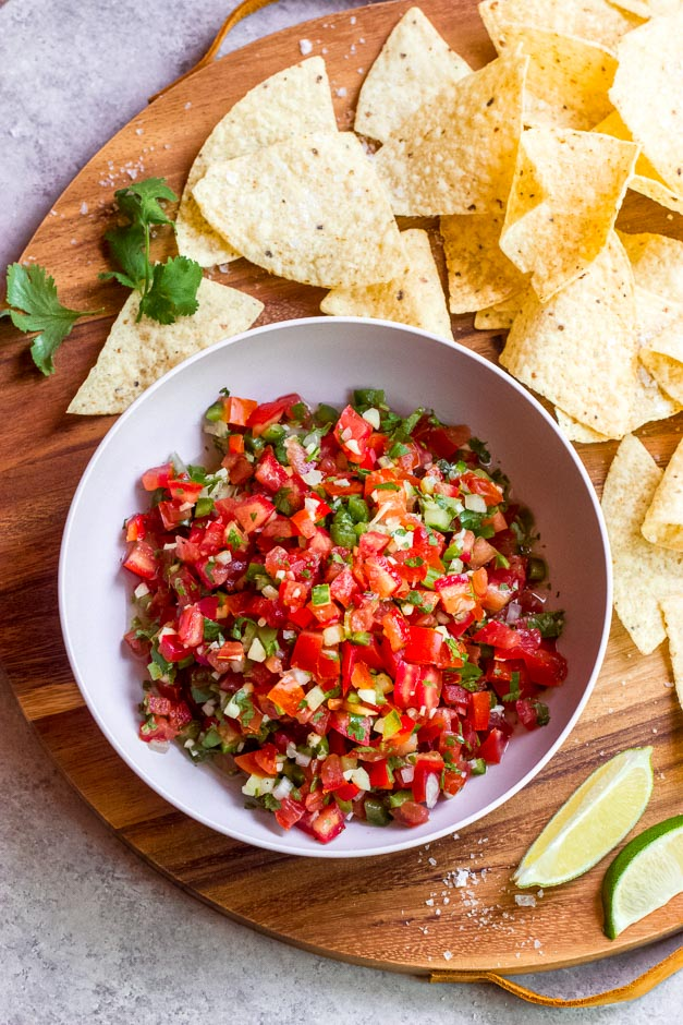 The Best Homemade Fresh Tomato Salsa Little Broken