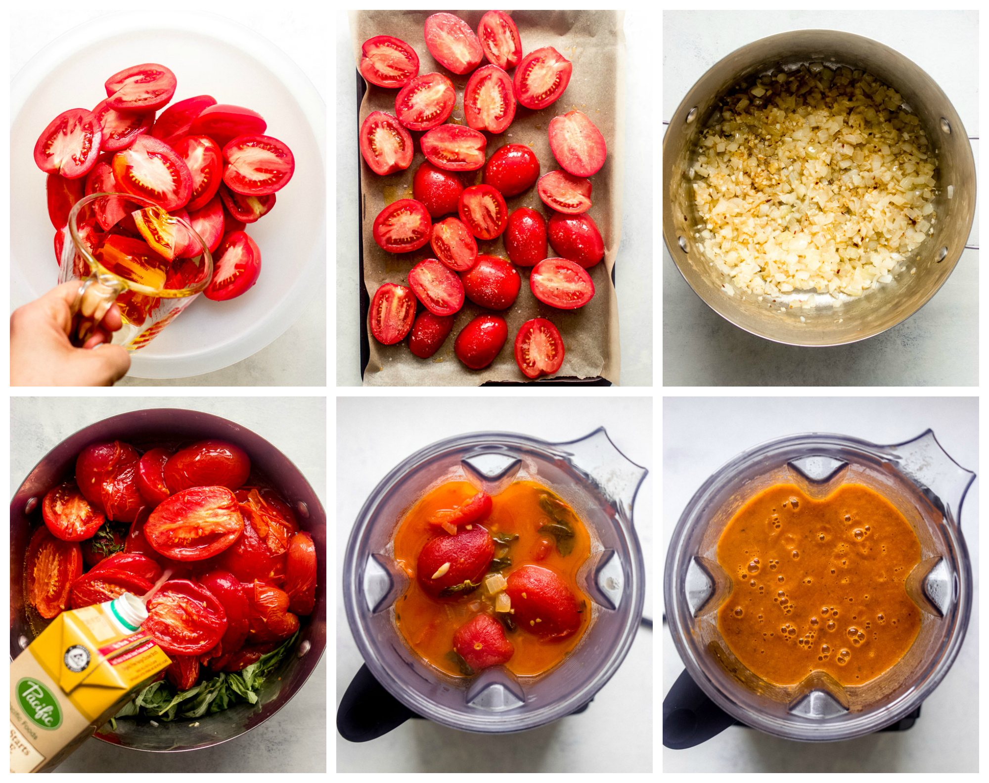 Step by step instruction on how to make tomato soup.