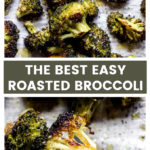 Baked easy broccoli with 4-ingredients