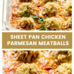 Sheet pan chicken meatballs with parmesan