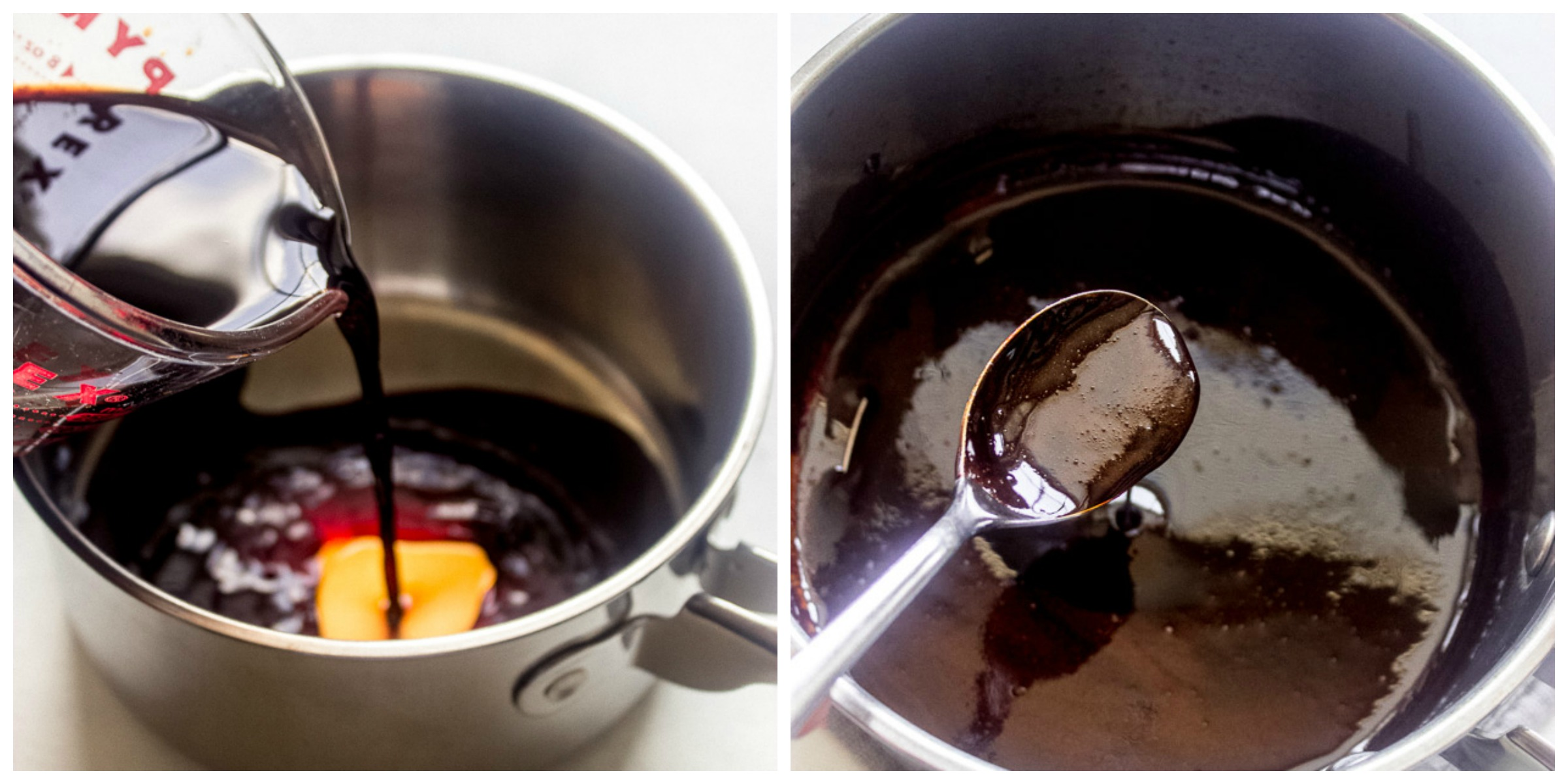 Step by step instructions on how to make balsamic reduction