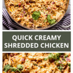 Quick and easy shredded chicken