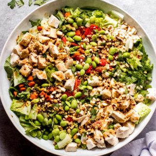 overhead panera thai chicken salad