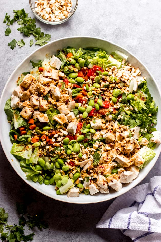 overhead panera thai chicken salad
