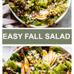 easy fall salad in white bowl
