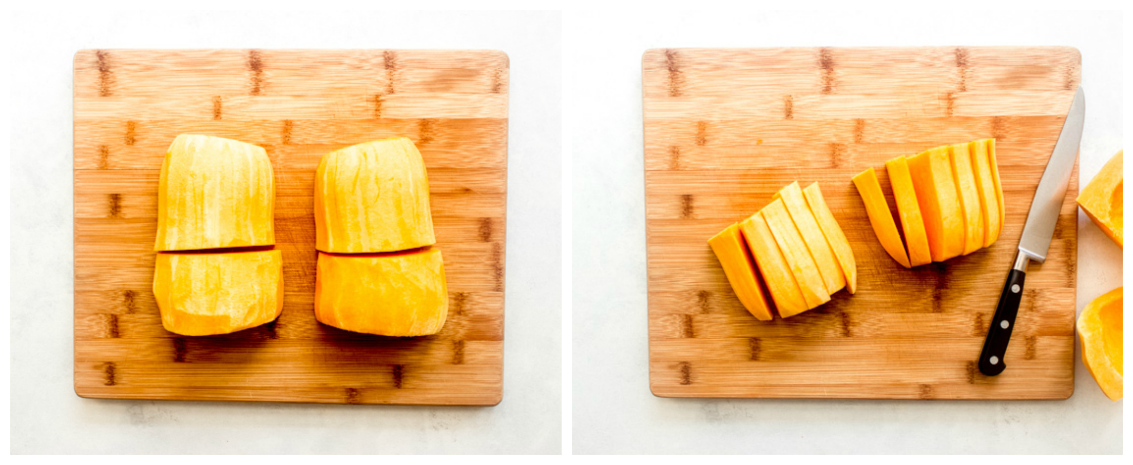 how to slice fresh butternut squash