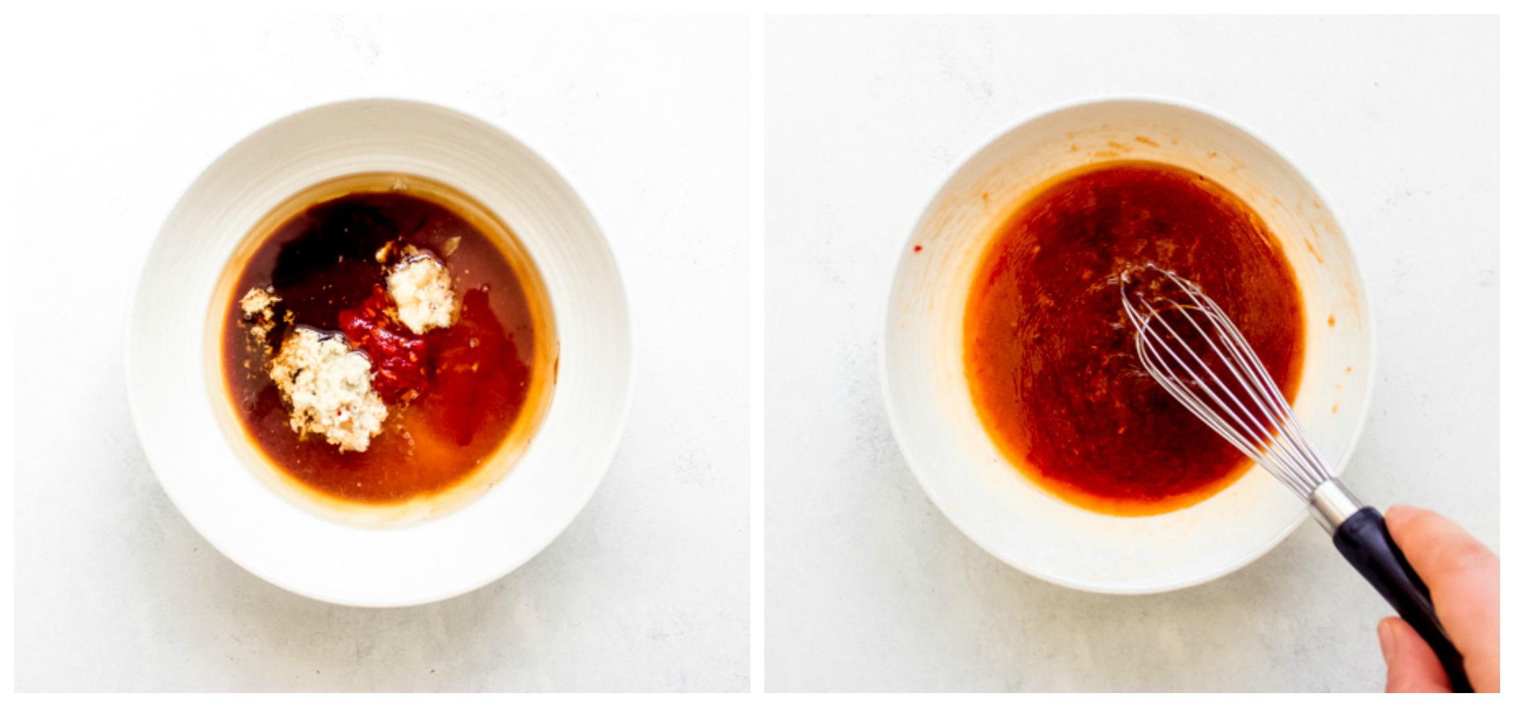 chili garlic dressing in a bowl