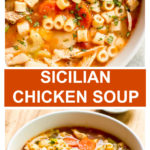 chicken soup with italian vegetables