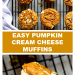 easy pumpkin muffins with cream cheese filling