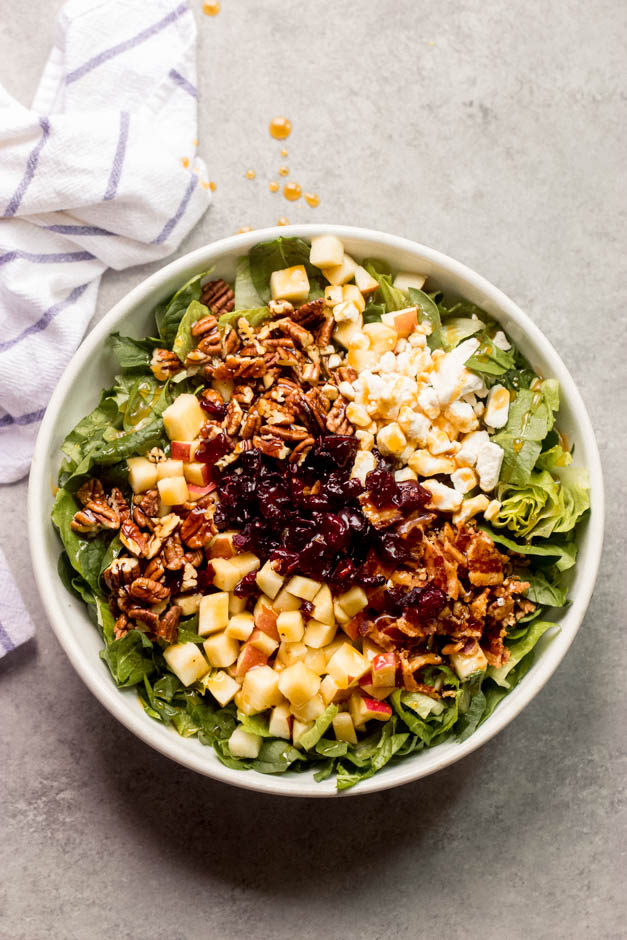 Chopped Spinach Apple Salad Quick Easy Little Broken