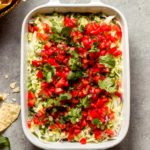 overhead vegetarian 7 layer dip